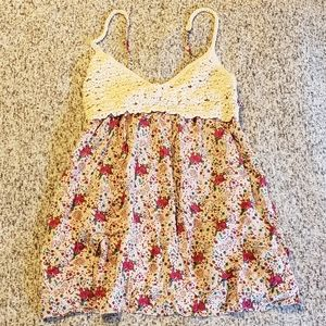 Forever 21 Floral knit top